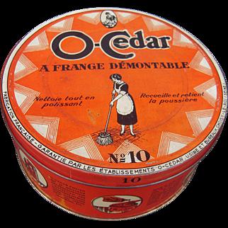 c1920s O-Cedar Advertising Tin w/Mop from France