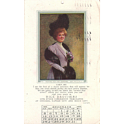 Lot 4 Advertising 1910 Calendar Postcards from Rice Bros. Sioux City, Iowa