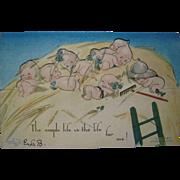 1914 Rose O'neill Kwepies Klever Kard Postcard