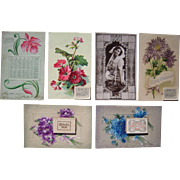 Lot 6 1907/1908 Calendar Postcards