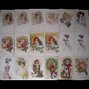Lot 18 Maude Humphrey Postcards c1900s/1910s