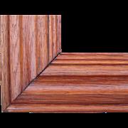 "Large Wide Victorian Era Oak Picture Frame 24"" x 25"""