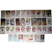 Lot 37 Christmas Postcards 1900s/1910s #1