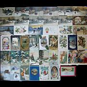 Lot 43 Christmas Postcards 1900s/1910s #3