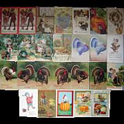 Lot 26 Thanksgiving Postcards c1900s/1910s #1