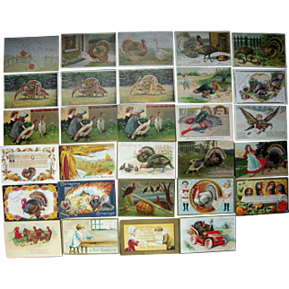 Lot 29 Thanksgiving Postcards c1900s/1910s #2
