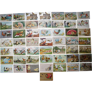 Lot 50 Easter Postcards 1900s/1910s #4