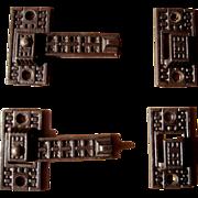 Pair Ornate Victorian Cast Iron Interior Shutter Latches