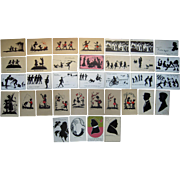 Lot 35 Silhouette Postcards Mostly 1900s/1910s