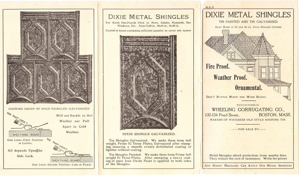 Victorian Era Architectural Advertising Flyer For Roof
