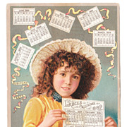 1889 E W Hoyt Advertising Calendar/Trade Card - Red Tag Sale Item