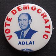 Rare Adlai Stevenson Campaign Button