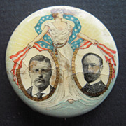 1904 Roosevelt Fairbanks Campaign Button