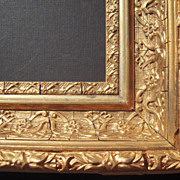 Deep Ornate Square Gold Victorian Picture Frame 7 5/8""