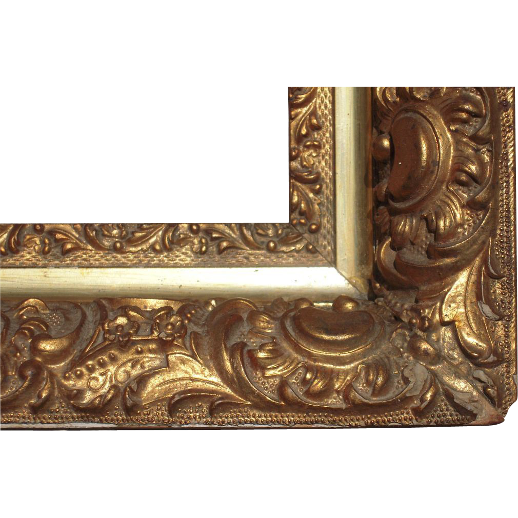 ornate gold victorian picture frame 13 x 19 from bluesprucerugsandantiques on ruby lane. Black Bedroom Furniture Sets. Home Design Ideas