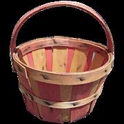 Vintage Miniature Advertising Basket Burlington Basket Co IA