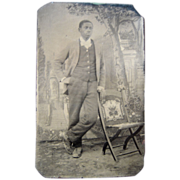 Sixth Plate Tintype Black Man #2 - Red Tag Sale Item