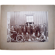 Victorian Era Photo Workers w/Bicycles at Port Jervis, NY