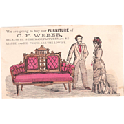 c1870s Furniture Trade Card