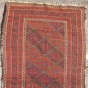 c1910s Persian Baluchi  Rug 2' x 4'