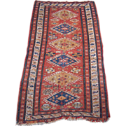 19th Century Flat Weave Caucasian Rug 3' x 5'