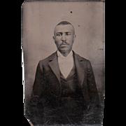Sixth Plate Tintype Black Man #3 - Red Tag Sale Item