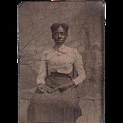 Sixth Plate Tintype Black Woman #7