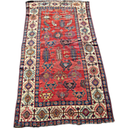 19th Century Antique Afshar Persian Rug 4' x8'
