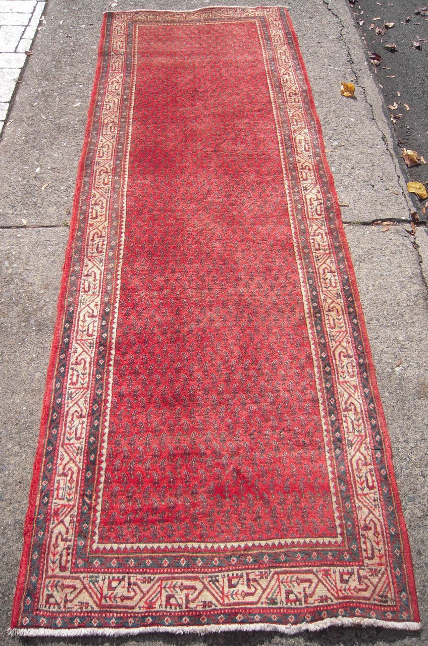 Vintage Persian Mir Rug 10 Runner From