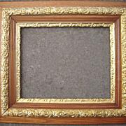 """Large Antique Ornate Oak Picture Frame w/Gold Liner 16"""" x 20"""""""