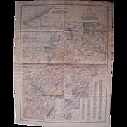 Vintage 1932 Pennsylvania OIl & Gas Geologic Map