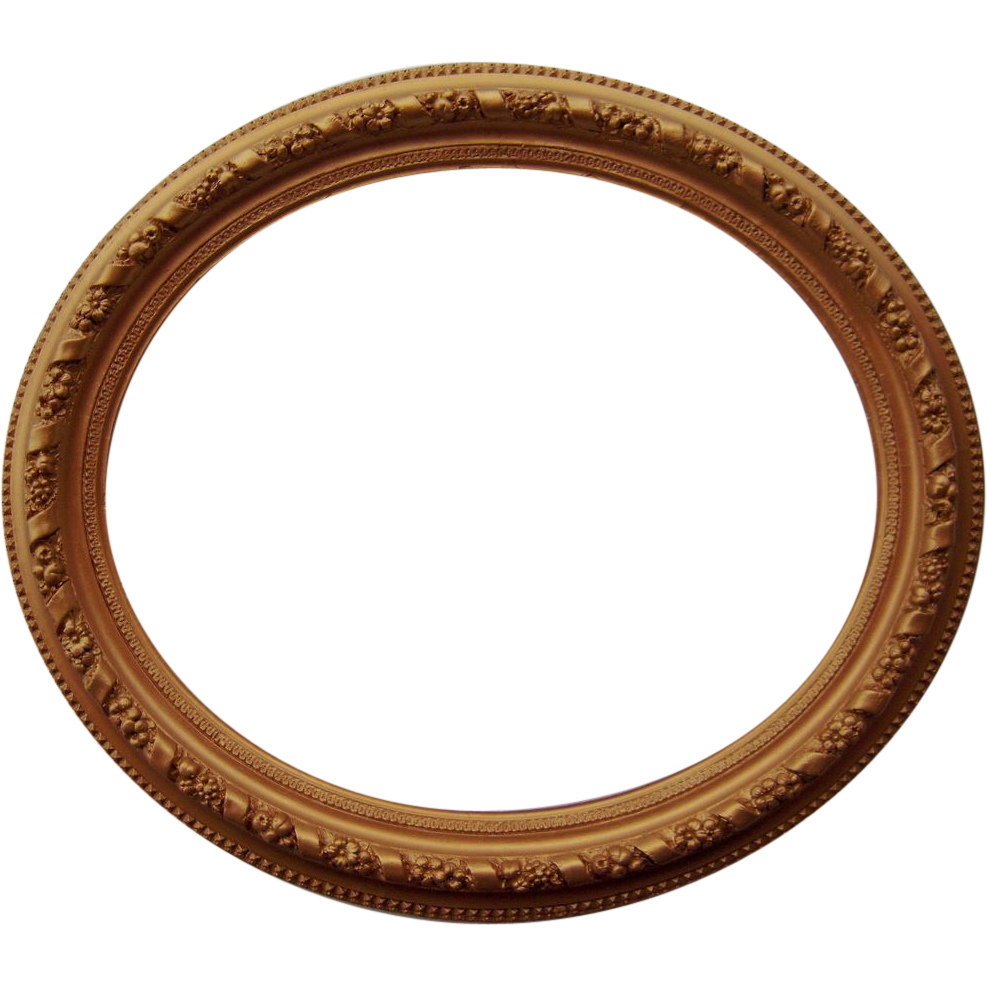 Large Ornate Oval Antique Gold Picture Frame 20\