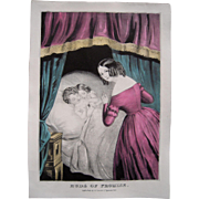 Currier & Ives Print Buds of Promise