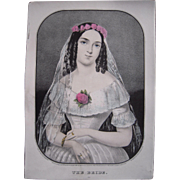 Currier & Ives Print The Bride
