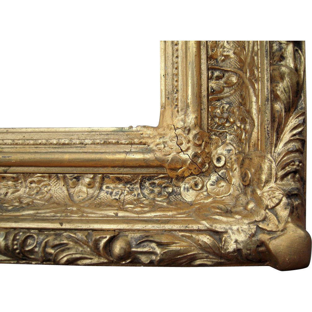 Ornate antique deep gold victorian picture frame 20 x 24 blue ornate antique deep gold victorian picture frame 20 x 24 blue spruce rugs and antiques ruby lane jeuxipadfo Choice Image