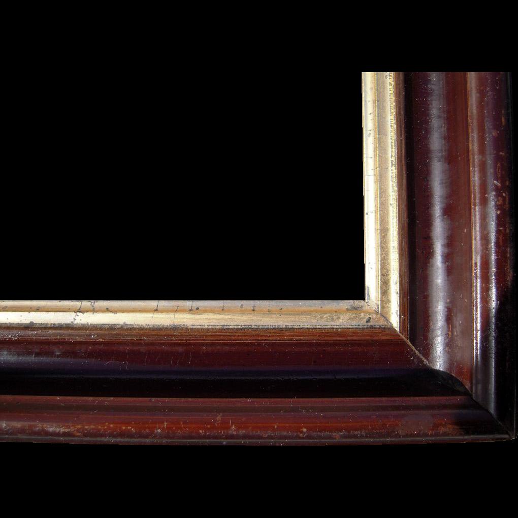 deep faux walnut picture frame 10 x 14 from bluesprucerugsandantiques on ruby lane. Black Bedroom Furniture Sets. Home Design Ideas