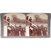 Stereoview Pres Teddy Roosevelt at Inaugural Parade Washington, DC