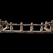 Vintage Solid Brass Fireplace Fender