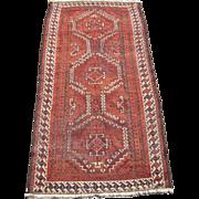 19th Century Antique Brown Baluchi Persian Rug 3' x 6'