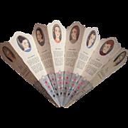 c1930 Advertising Fan Du Barry Richard Hudnut Advertising Fan