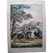 Currier and Ives 1849 Print The Morning Ride #1