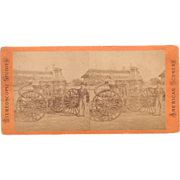 c1880 Stereoview of Fire Engine