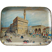 c1930 Color Lithographed Tray -- Italian Scene