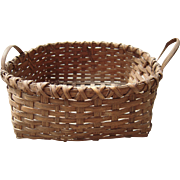 Early 20th Century Reed Basket