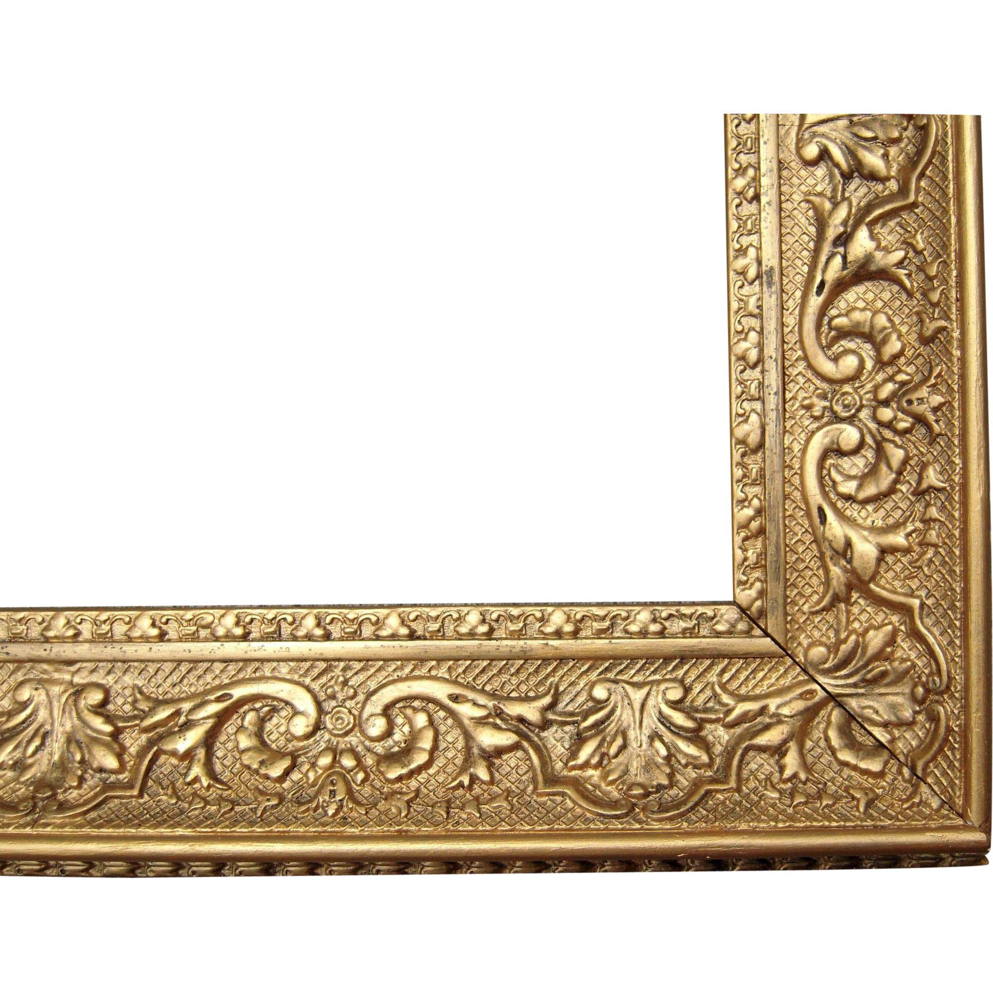 large ornate gold antique victorian picture frame 19 x 26