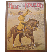 1910 Sheet Music Pride of the Regiment