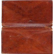 Victorian Leather Wallet from Penn Yan NY