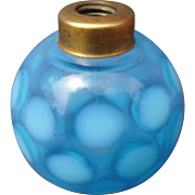 c1920s/1930s Blue and White Dot Devilbliss Perfume Bottle