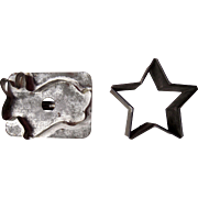 Pair Victorian Era Cookie Cutters (Rabbit  and Star)