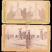 Pair Stereoviews Gettysburg National Cemetery